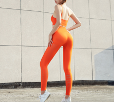 Shape Seamless Tights, Orange